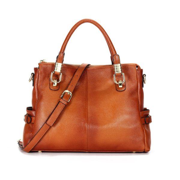 Luxury Brand Women Leather Handbag Genuine Leather Casual Tote Bags Female Big Shoulder Bags for Women Purses Bolsas 2020 C1262