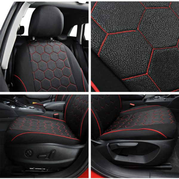 AUTOYOUTH Soccer Ball Style Car Seat Covers Jacquard Fabric Universal Fit Most Brand Vehicle Interior Accessories Seat Covers 3