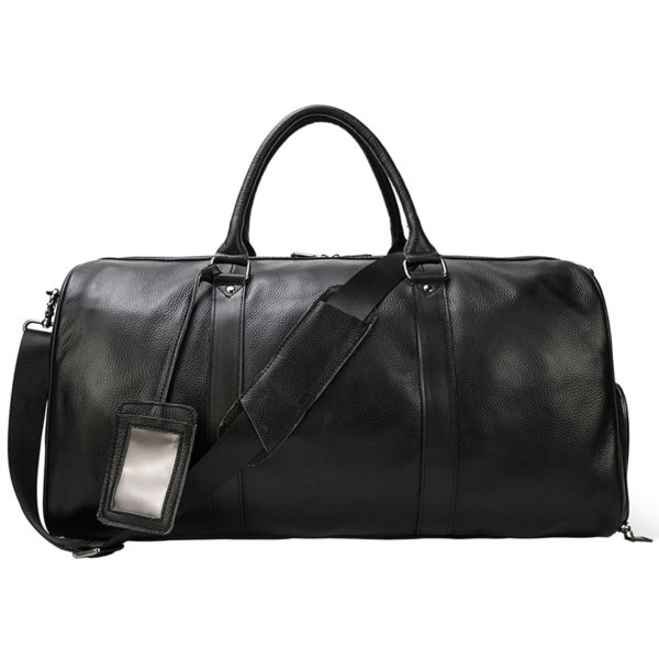 MAHEU Natural Cow Skin Travel Bags Waterproof Men's Leather Luggage  2