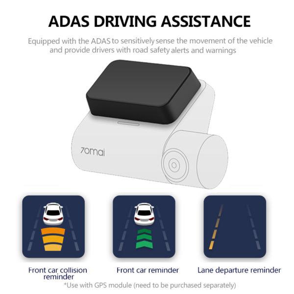 70mai Dash Cam Pro 1944P Speed Coordinates GPS ADAS 70mai Pro Car DVR WiFi 70 Mai Dash Camera Voice Control 24H Parking Monitor 2