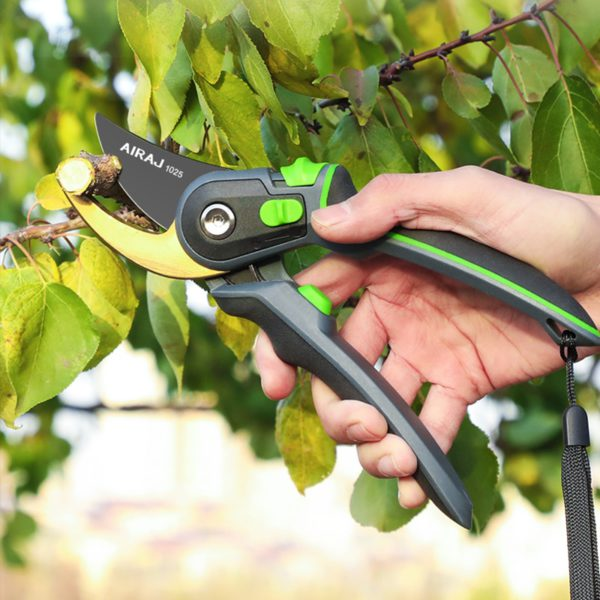 AIRAJ Pruning Shears Household Large Opening Garden Scissors Can Trim 28mm Fruit Tree Flowers Plastic Tube Trimming Tool 5