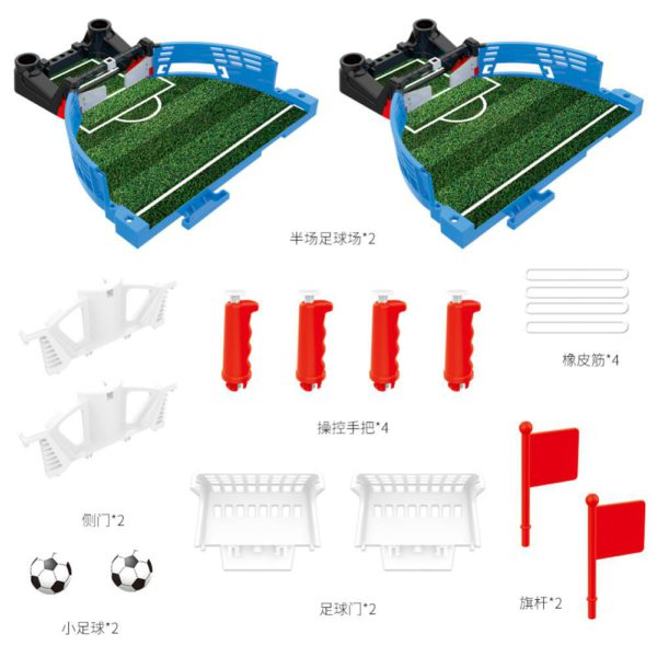 Mini Table Top Football Field with Balls Home Match Toy for Kids Competitive Football Toy Double Battle Puzzle Board Game 1