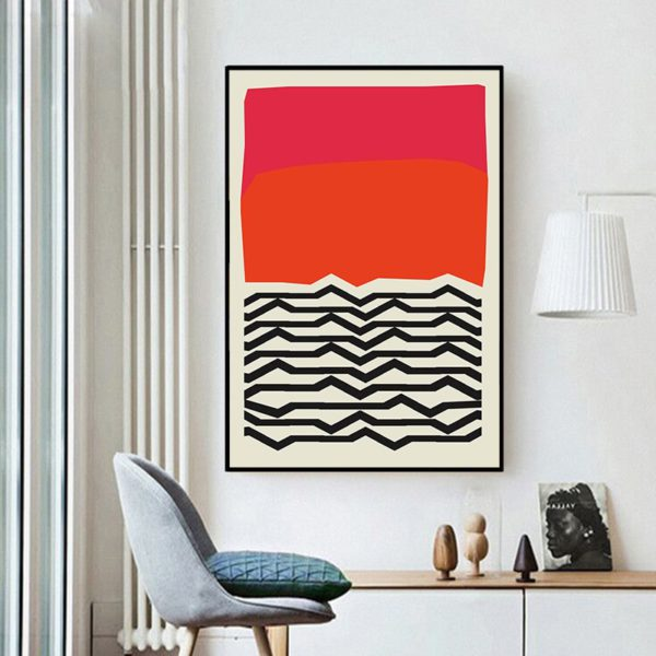 Modern Multicolored Abstract Geometric Wall Art Canvas Painting Picture Posters and Prints Gallery Kids Kitchen Home Decor 3