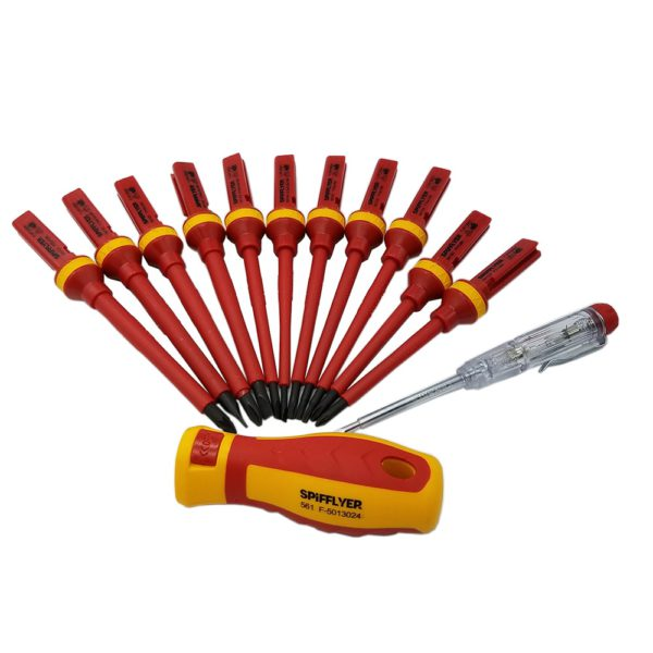 SPIFFLYER 13PC VDE Screwdriver Insulated Special Security Tool &7PC Insulated Screwdriver Set   CR-V High Voltage 1000V Durable 2