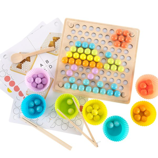 Kids Toys Montessori Wooden Toys Hands Brain Training Clip Beads Puzzle Board Math Game Baby Early Educational Toys For Children 5