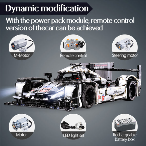 cada 1589PCS RC/non-RC Endurance racing Car Building Blocks For Technic MOC Model Remote Control vehicle Toys for kids 3