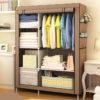 Actionclub Simple Fashion Wardrobe DIY Non-woven Fold Portable Storage Cabinet Multifunction Dustproof Moistureproof Closet 2