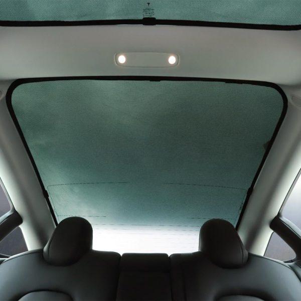 LUCKEASY for Tesla Model 3  Glass Roof Sunshade Car Skylight Blind Shading Net 3