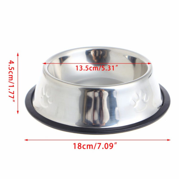New Dog Cat Bowls Stainless Steel Travel Footprint Feeding Feeder Water Bowl For Pet Dog Cats Puppy Outdoor Food Dish 3 Sizes 1