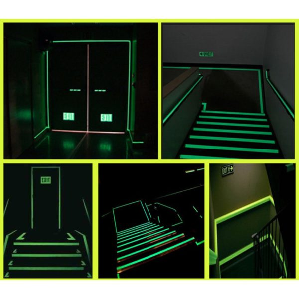 Luminous Tape 1.5cm*1m 12MM 3M Self-adhesive Tape Night Vision Glow In Dark Safety Warning Security Stage Home Decoration Tapes 4