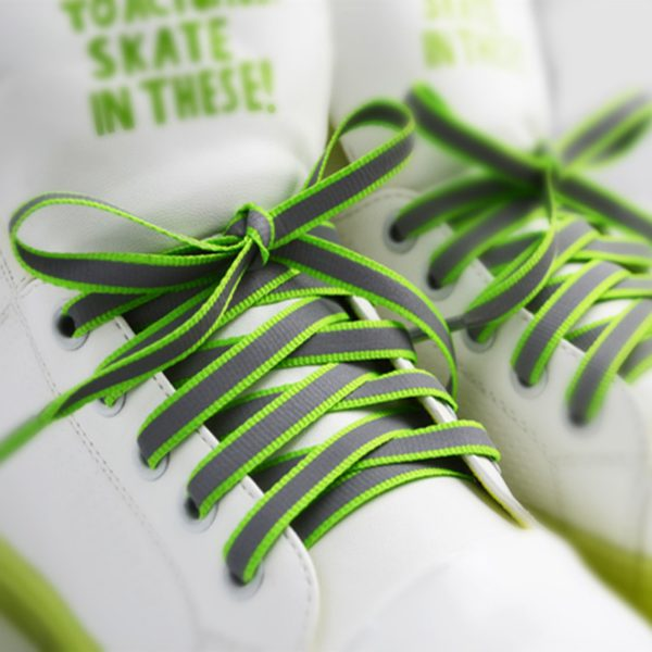 Creative Double-sided Reflective Shoelaces Fashion Tide Night Running Sports Shoes Hot Selling Wholesale Warning Laces 1
