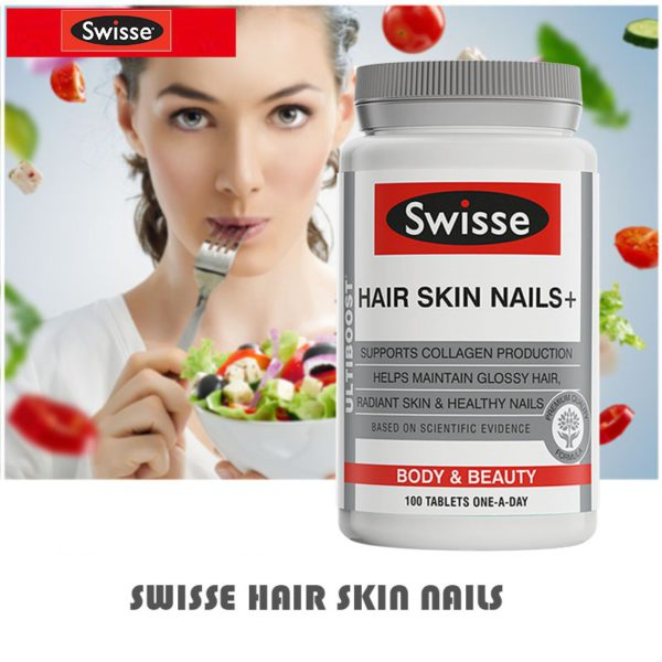 Australia Swisse Hair Skin Nails Collagen Tablets 1