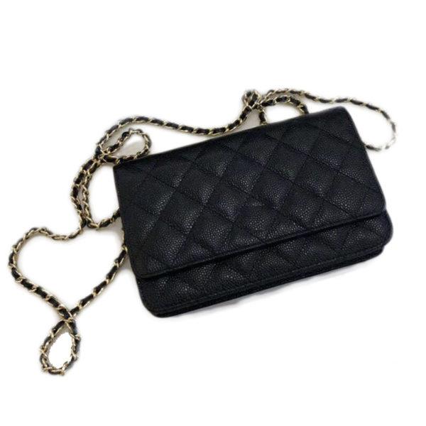 2020 New Quality material leather handbags  rhombus chain handbags fashion slanted shoulder bag 1