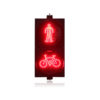 AC85-265V PC housing red green pedestrian with bicycle signal LED traffic light for promotion 1