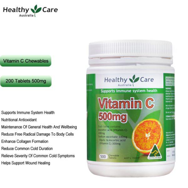 Australia Healthy Care Vitamin C 500mg