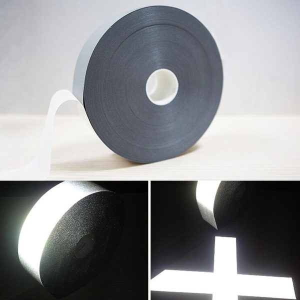 Safety Reflective Heat transfer Vinyl Film DIY Silver Iron on Reflective Tape For Clothing 1