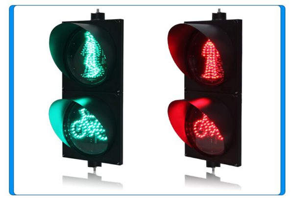 AC85-265V PC housing red green pedestrian with bicycle signal LED traffic light for promotion 5