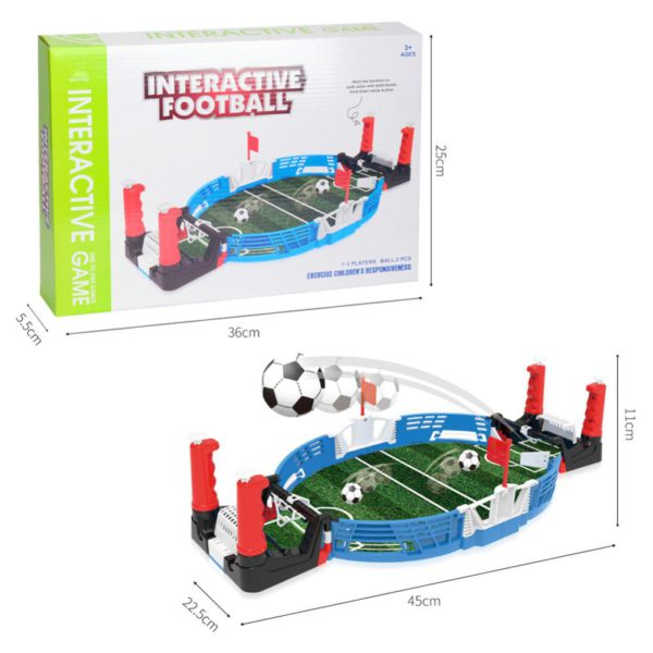 Mini Table Top Football Field with Balls Home Match Toy for Kids Competitive Football Toy Double Battle Puzzle Board Game 2