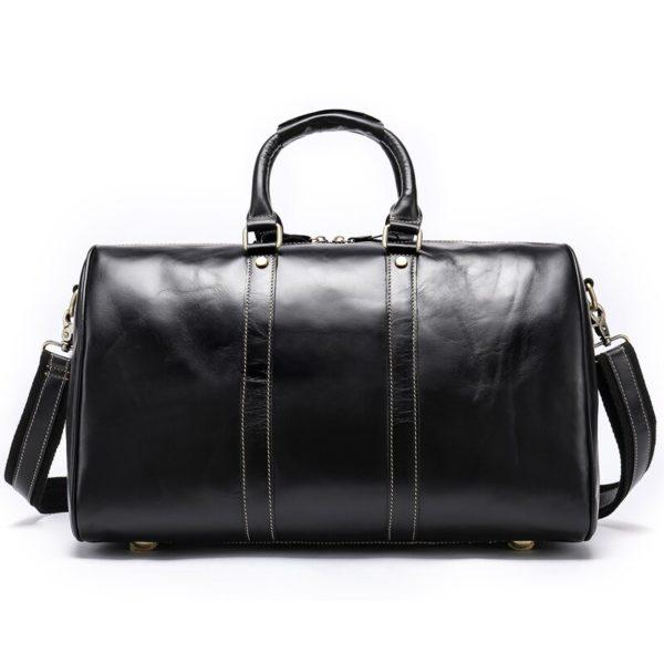 WESTAL Men Genuine Leather Travel Bag for Luggage 2