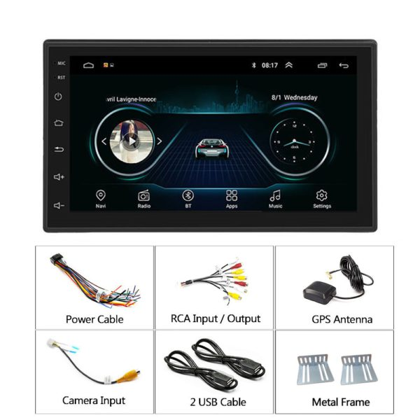 Podofo 2 din Car Radio 2.5D GPS Android Multimedia Player Universal 7 5