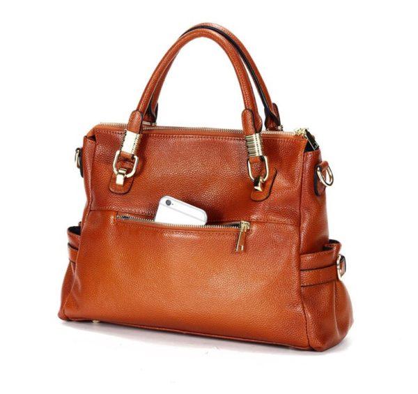 Luxury Brand Women Leather Handbag Genuine Leather Casual Tote Bags Female Big Shoulder Bags for Women Purses Bolsas 2020 C1262 2