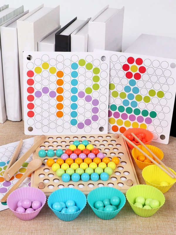 Kids Toys Montessori Wooden Toys Hands Brain Training Clip Beads Puzzle Board Math Game Baby Early Educational Toys For Children 1