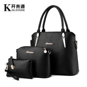 100% Genuine leather Women handbag 2019 New Three piece type fashion Crossbody Shoulder Handbag women messenger bags