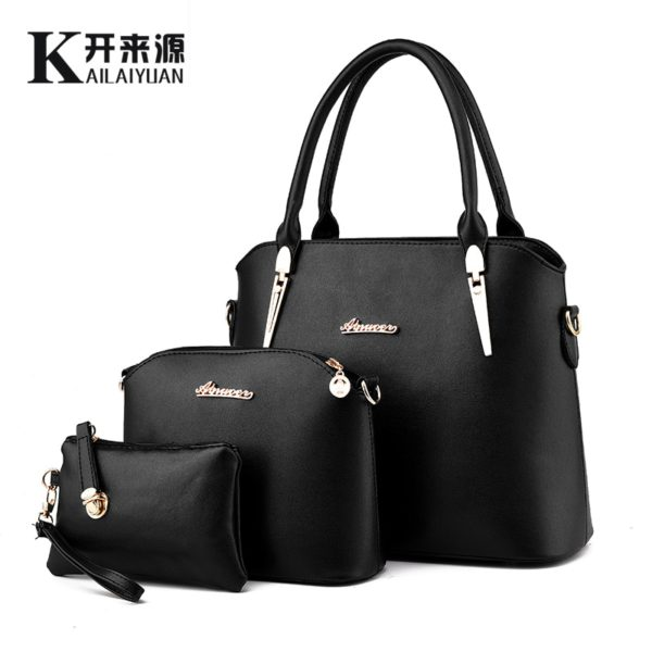 100% Genuine leather Women handbag 2019 New Three piece type fashion Crossbody Shoulder Handbag women messenger bags