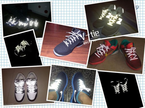 Creative Double-sided Reflective Shoelaces Fashion Tide Night Running Sports Shoes Hot Selling Wholesale Warning Laces 2