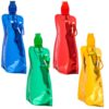 FOLDING FLASK WITH CARABINE 400ML for hiking and walking for tourists children beautiful comfortable bright 2