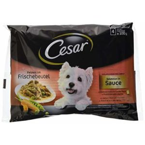 Cesar Deliciously Fresh Wet Dog Food Selection in Sauce, 4 x 100 g