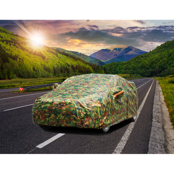 Kayme waterproof camouflage car covers outdoor sun protection cover for car reflector dust rain snow protective suv sedan full 5