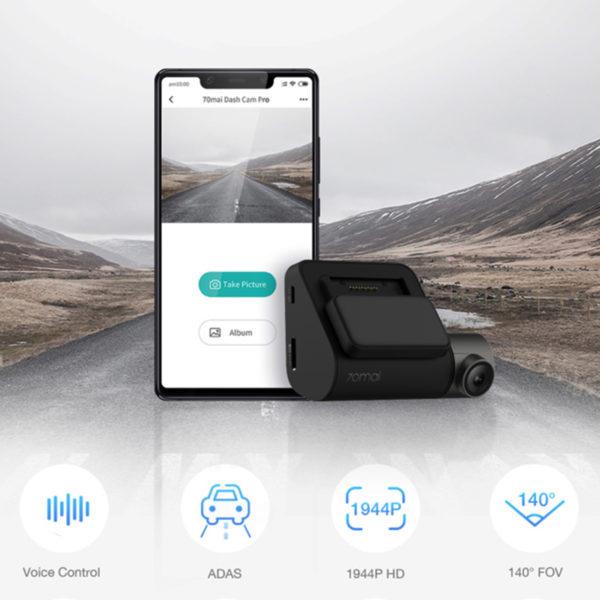 70mai Dash Cam Pro 1944P Speed Coordinates GPS ADAS 70mai Pro Car DVR WiFi 70 Mai Dash Camera Voice Control 24H Parking Monitor 1