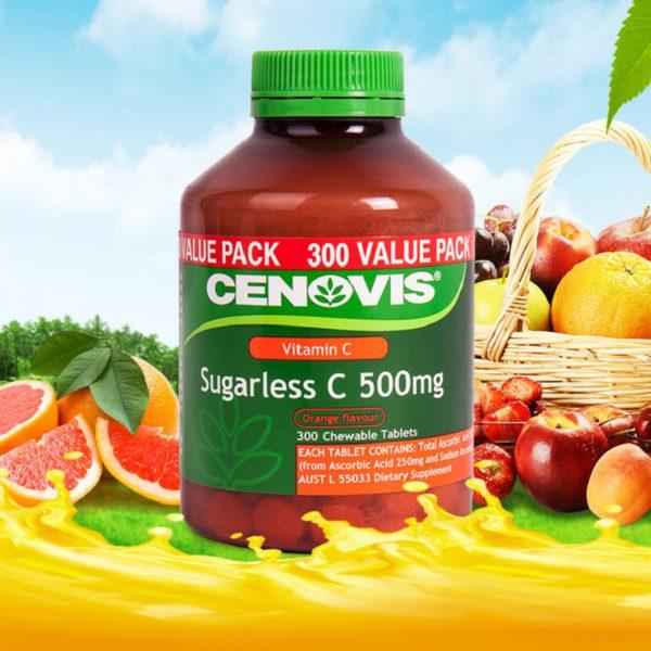 Australia Cenovis Sugarless Vitamin C 500mg 300Tablets 2
