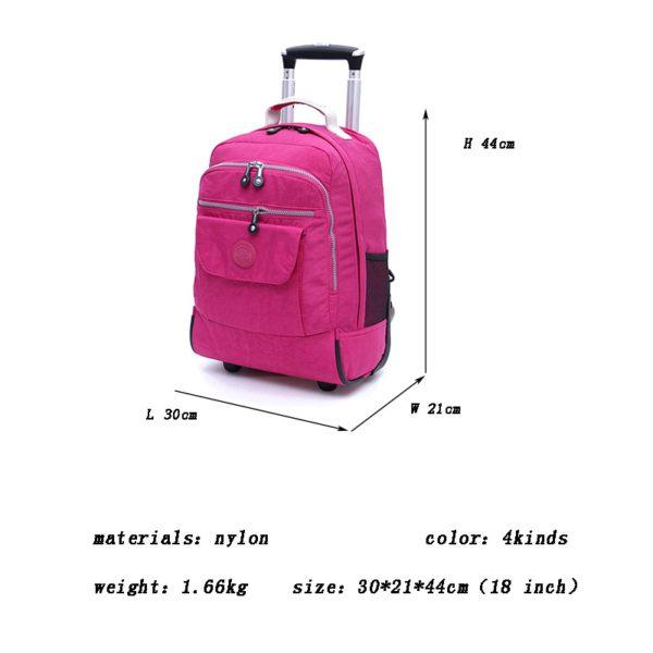 Rolling Luggage Travel Backpack Shoulder Spinner Backpacks 5
