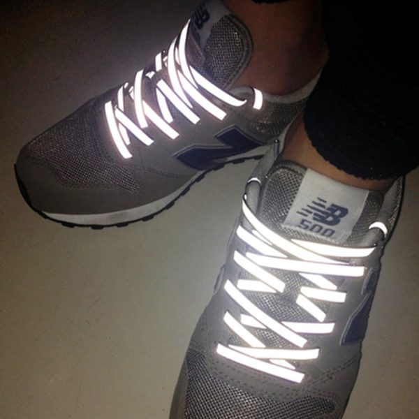 Creative Double-sided Reflective Shoelaces Fashion Tide Night Running Sports Shoes Hot Selling Wholesale Warning Laces