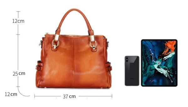Luxury Brand Women Leather Handbag Genuine Leather Casual Tote Bags Female Big Shoulder Bags for Women Purses Bolsas 2020 C1262 4