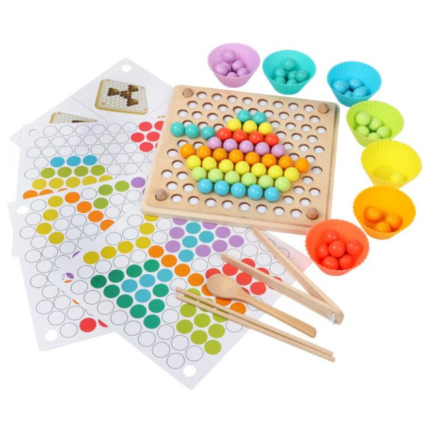 Kids Toys Montessori Wooden Toys Hands Brain Training Clip Beads Puzzle Board Math Game Baby Early Educational Toys For Children