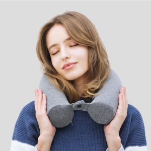 HMUNII Memory Foam Neck Pillow Soft U Shaped Slow Rebound Shipping Neck Cervical Space Travel Health care For Travel Accessories