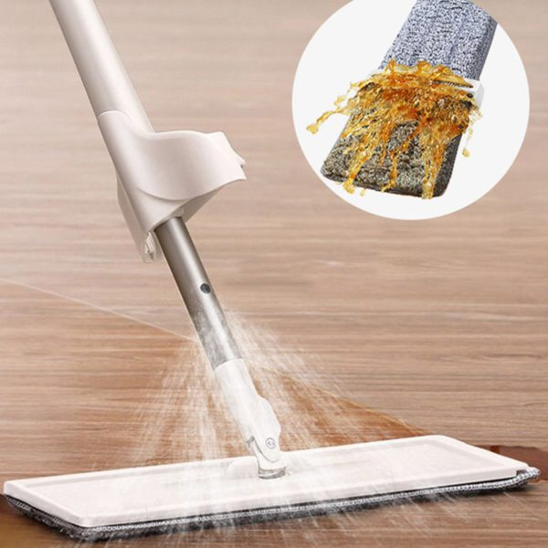 NEW 2 in 1 Spray Mop Free Hand Washing Flat Mop Lazy 360 Rotating Magic Mop With Squeezing Floor Cleaner Household Cleaning Tool 1