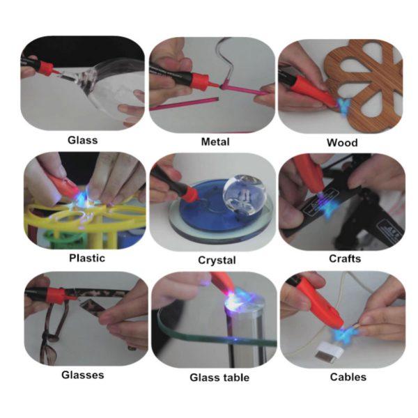 VISBELLA 5 Second Fix UV Light Pen Glue Super Powered Liquid Plastic Adhesive for Metal Wood Ceramic Glass Repair Hand Tool Sets 3