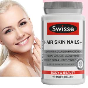 Australia Swisse Hair Skin Nails Collagen Tablets