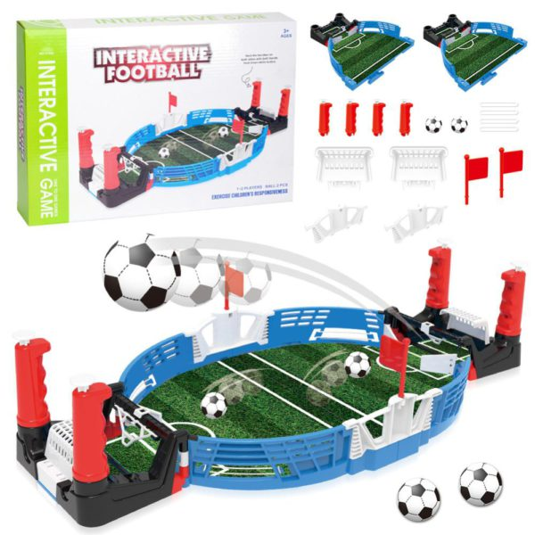 Mini Table Top Football Field with Balls Home Match Toy for Kids Competitive Football Toy Double Battle Puzzle Board Game