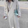 Chains baguette shape bag animal print alligator leather blue shoulder bag women ladies 2020 summer new handbag white black 3