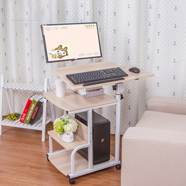Large size Desktop  computer Table Adjustable Portable Laptop Desk Rotate Laptop Bed Table Can be Lifted Standing Desk