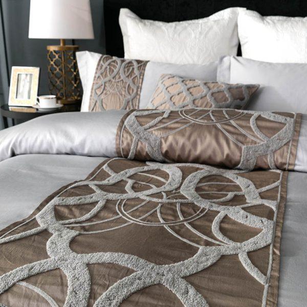 Grey white Bed Sheet Pillowcase Duvet cover set Luxury 60S Egyptian cotton queen king double size Bedding set Bed linen 2