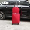 BeaSumore Retro Leather Rolling Luggag 4