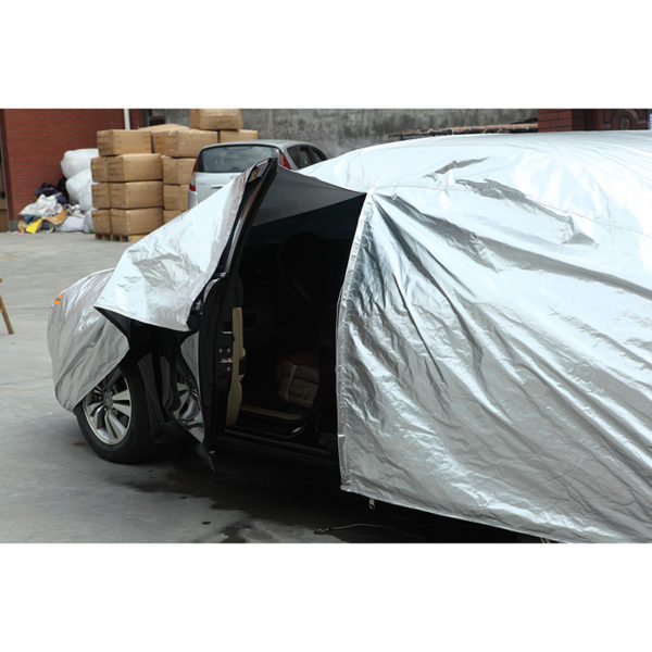 Kayme waterproof car covers outdoor sun protection cover for car reflector dust rain snow protective suv sedan hatchback full s 3