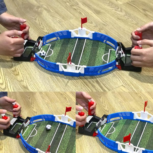 Mini Table Top Football Field with Balls Home Match Toy for Kids Competitive Football Toy Double Battle Puzzle Board Game 3