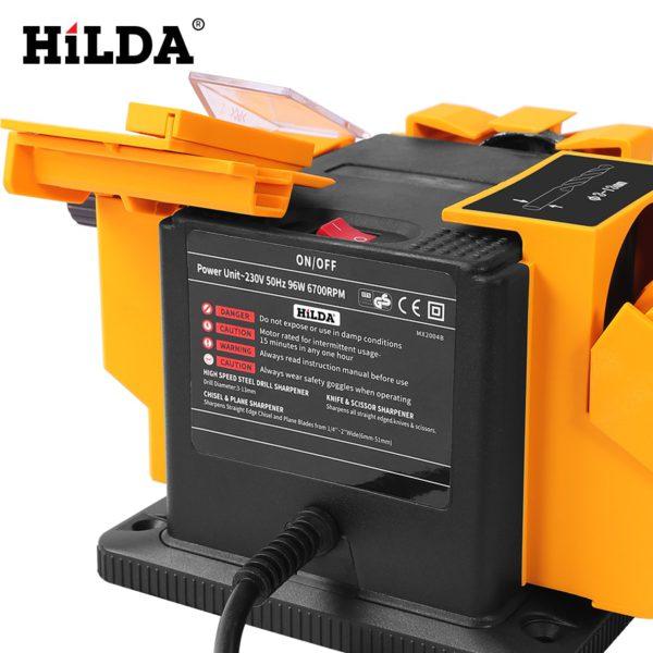 HILDA 96W 3in1 Multifunction sharpener Household Grinding Tool sharpener drill for knife Twist drill HSS drill scissor chisel 3